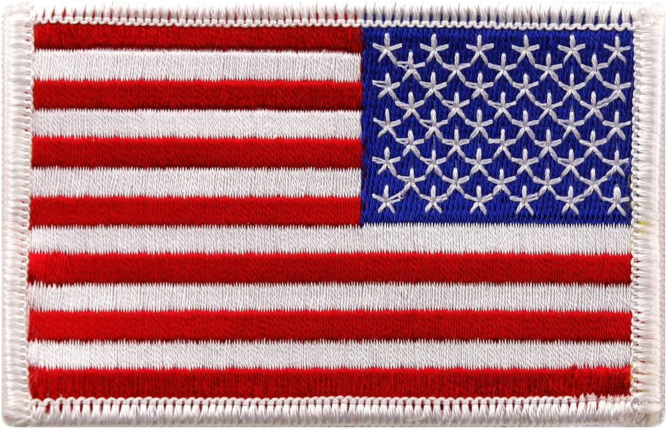 "AMERICAN FLAG YELLOW /& BLACK Iron On Patch 3/"" Patriotic"