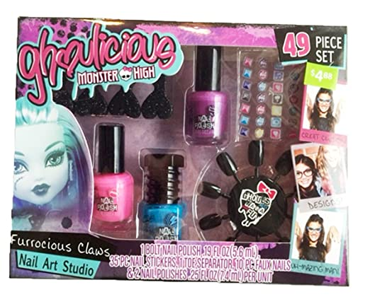 Amazon Monster High Ghoulicious Nail Art Studio Beauty