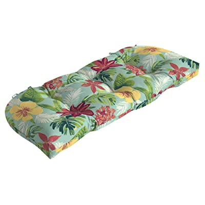 Arden Companies Arden Selections Elea Tropical Wicker Settee Cushion : Garden & Outdoor...
