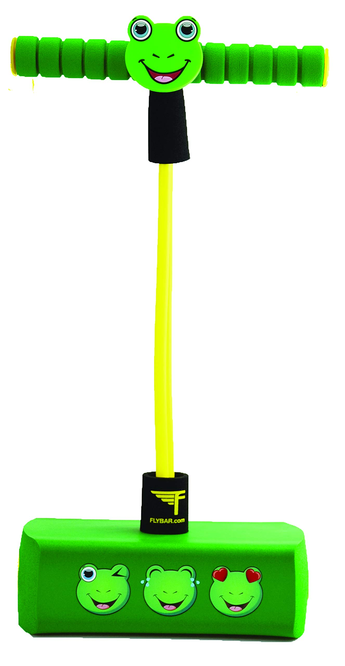 Flybar My First Pogo Pals Jumper for Kids Fun and Safe Pogo Stick for Toddlers, Durable Foam and Bungee Jumper for Ages 3 and up, Supports up to 250lbs (Frog) by Flybar