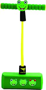 Flybar My First Foam Pogo Jumper for Kids Fun and Safe Pogo Stick for Toddlers, Durable Foam and Bungee Jumper for Ages 3 and up, Supports up to 250lbs (Frog)