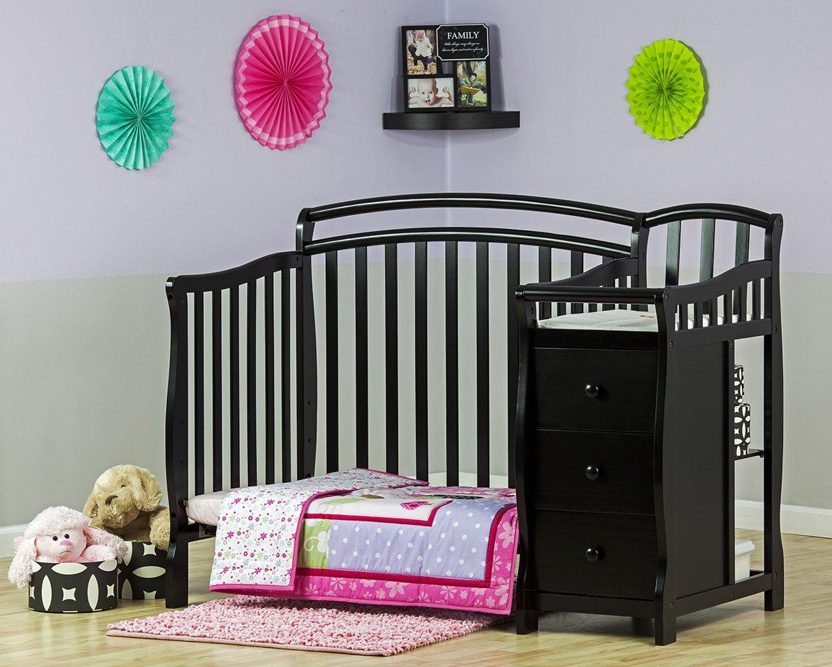 Amazon.com : Dream On Me Casco 3 In 1 Mini Crib And Dressing Table Combo  Black : Nursery Furniture Sets : Baby