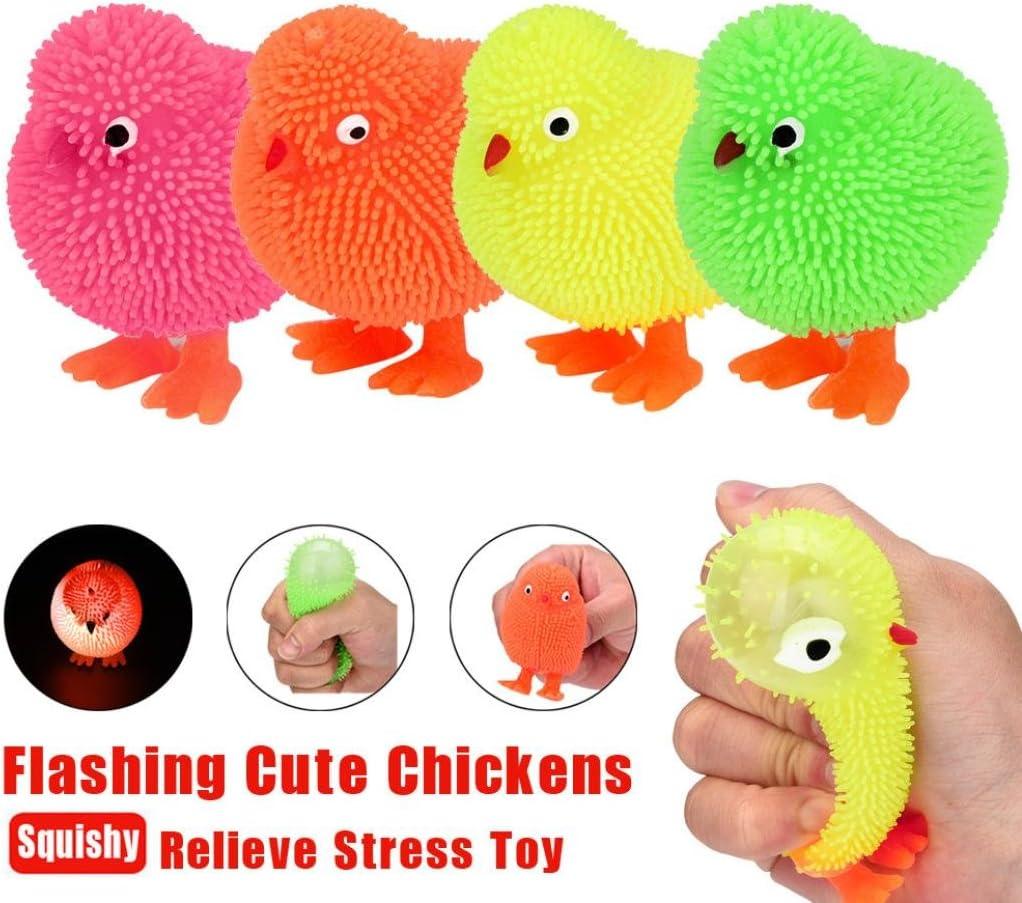 Squishy juguete, 6cm novedad intermitente Puffer pollos lindos ...