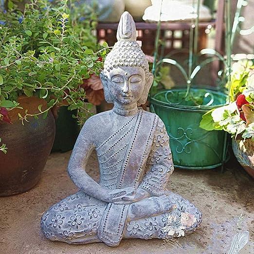 zenggp Buda Tailandés Que Medita La Paz Armonía Estatua Tailandia Gran Decoración para El Hogar Jardín Zen: Amazon.es: Hogar