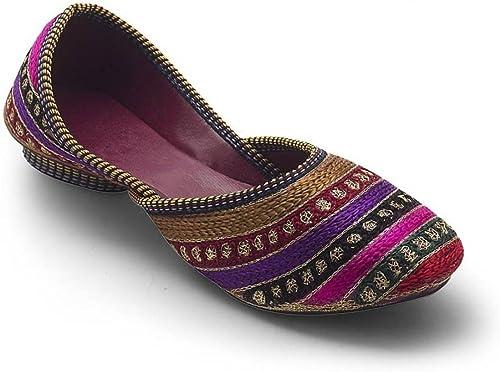Rajasthani Handmade Traditional Embroidered Women Ethnic Mojari Flat Ballerinas
