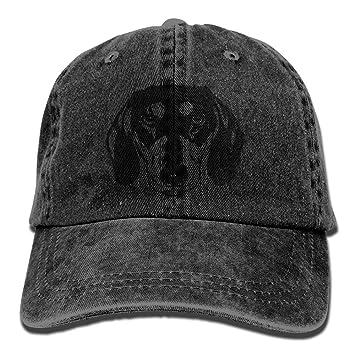vintage wiener dog pattern jeans cap adjustable hat unisex baseball caps black mesh back plain uk fitted