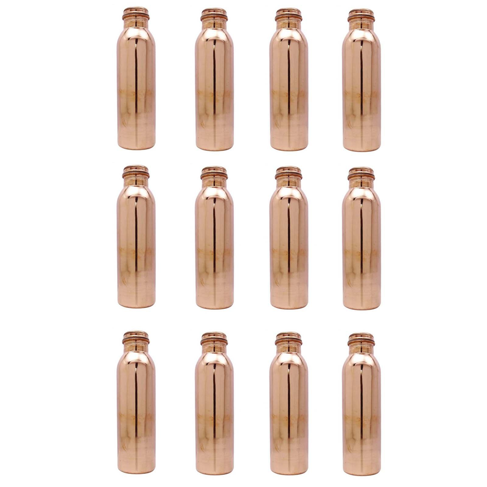 12 Pcs 800 Ml Traditional Copper Bottle Storage Flask Ayurvedic Health Benefits