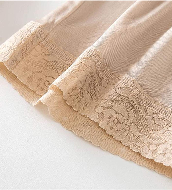 Zinmuwa Womens Underskirt Pants Petticoat Elastic Waist Half Slip Silk Anti-Friction
