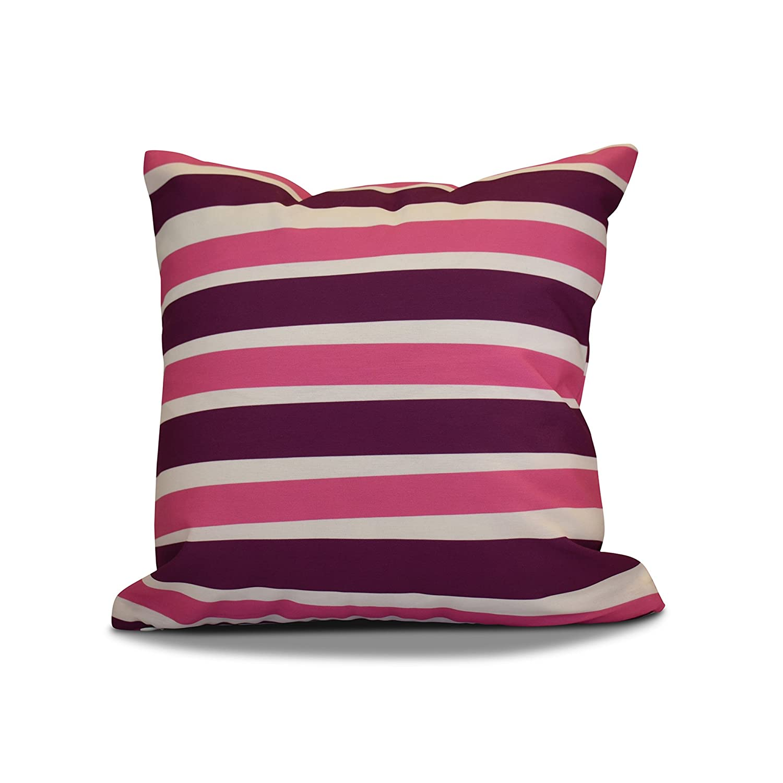 Decorative Holiday Pillow 18x18 Purple E by design PSHN568PP2PK8-18 18 x 18 inch