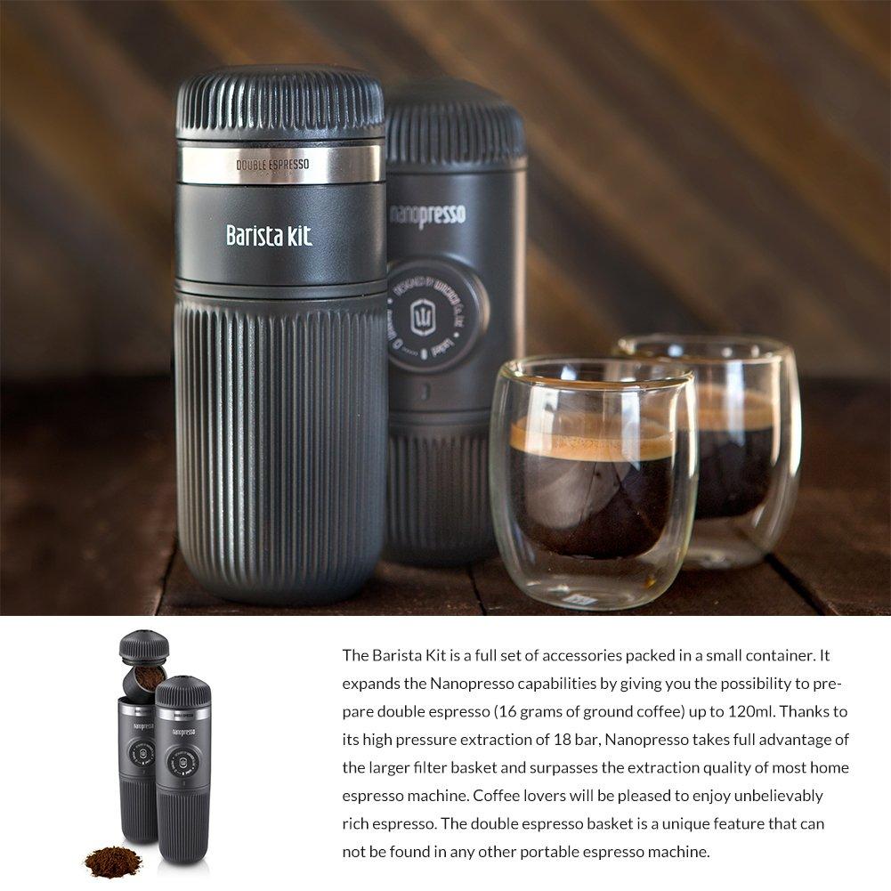 Wacaco Nanopresso Barista Kit, Accessory for Nanopresso Portable Espresso Machine, Double Espresso, Lungo