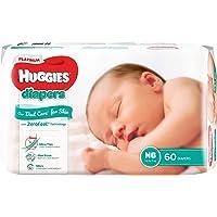 Huggies Platinum Diapers, Newborn, 60ct