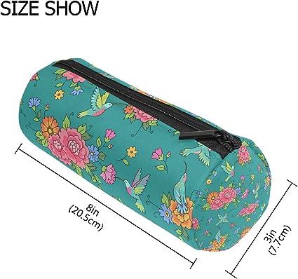 TIZORAX - Estuche para lápices de colibríes con cremallera, organizador de monedas, maquillaje, cosméticos, para mujeres, adolescentes, niñas, niños: Amazon.es: Oficina y papelería