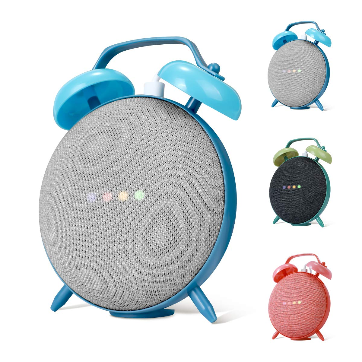 LANMU Alarm Clock Stand Compatible with Google Home Mini and Nest Mini (2nd Gen),Retro Alarm Clock Case Mount…