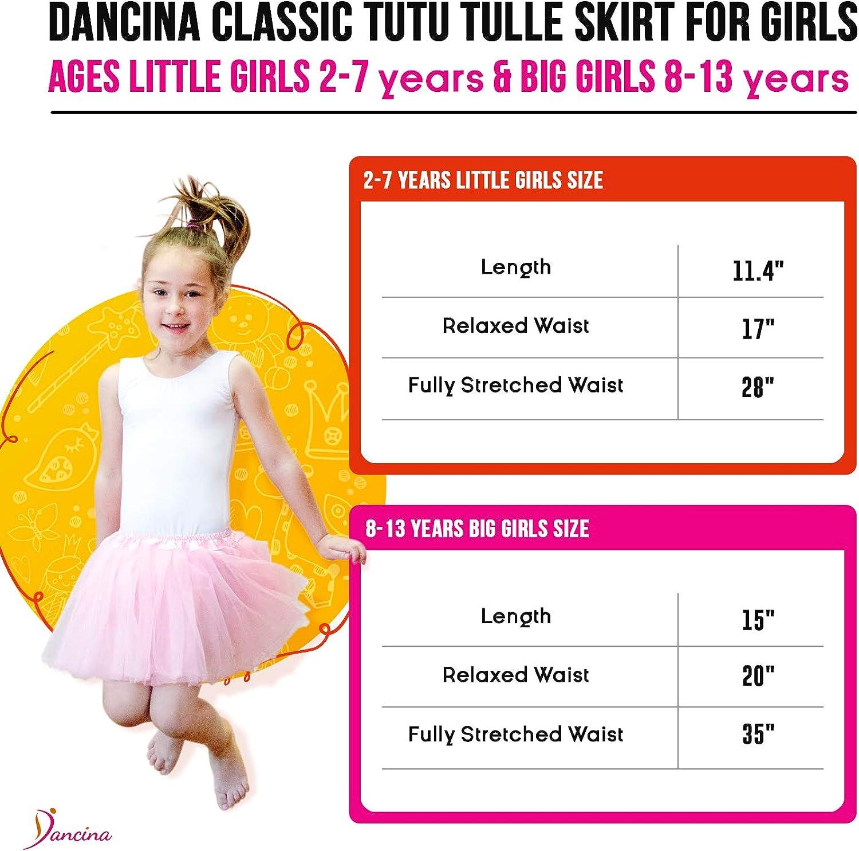 Dancina Falda Tutú Clásica de Ballet para Niñas de 2 a 13 años ...