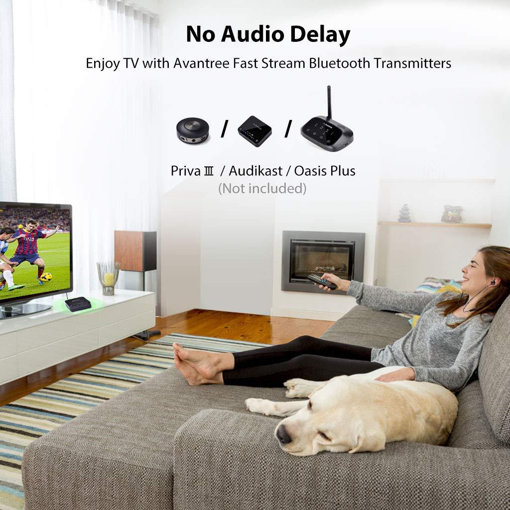 Avantree NB16 20 Horas Auriculares de Nuca Bluetooth Diadema Inalambricos para TV PC, Magnético Auriculares Inalámbricos con Micrófono, Sin retardo, ...