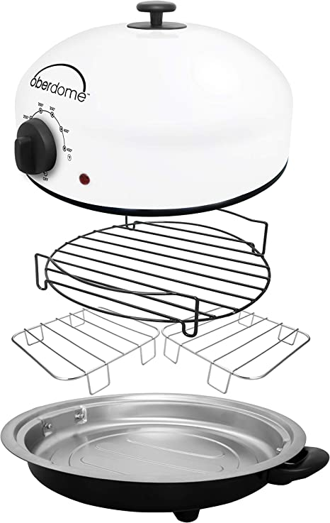 Amazon Com Eazy Brandz Ezo 1010w Oberdome Countertop Electric Roaster Oven With Domelok Heat Technology Standard White Kitchen Dining
