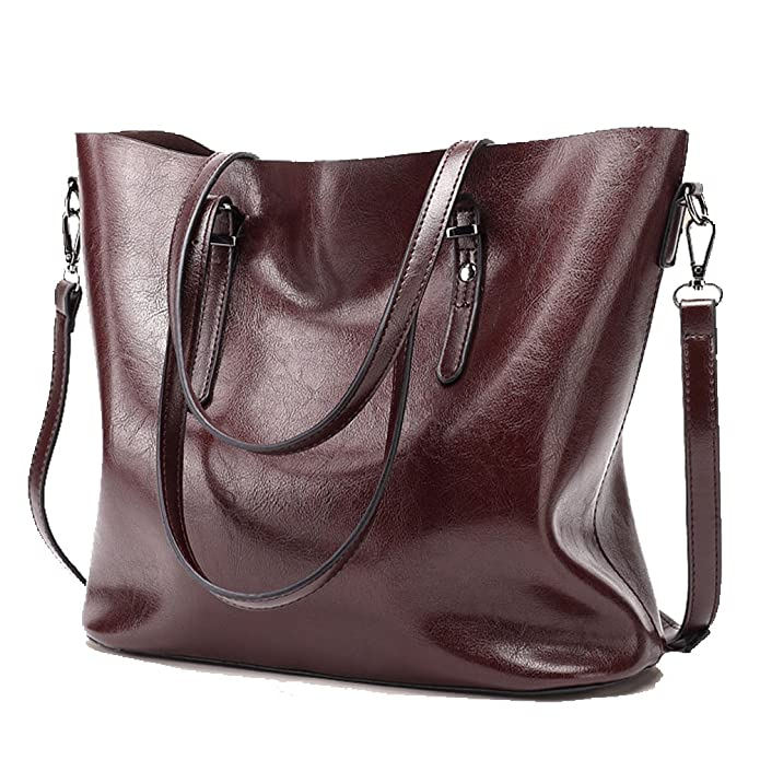 8b2be8382f Amazon.com  abshoo Womens Soft Leather Purses Handbags Tote Shoulder Bags ( Dark Red)  Shoes