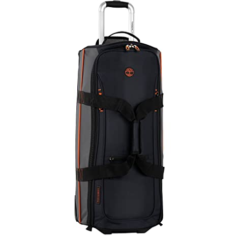 78c07298f3 Timberland Claremont 28-Inch Wheeled Duffle, Navy/Black/Burnt Orange, One  Size: Amazon.ca: Luggage & Bags