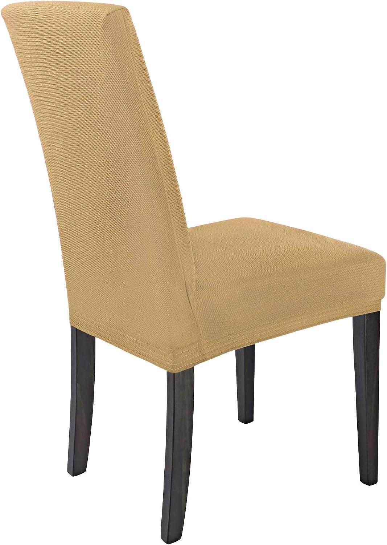 /élastiques Couverture Stretch Housses de chaises SCHEFFLER-Home Mia Microfibre 2 Set rev/êtement de Chaise Bordeaux