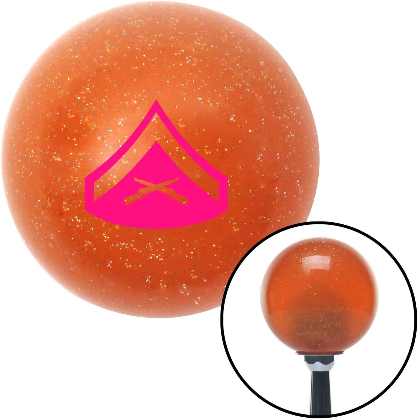 Yellow 01 Private First Class American Shifter 44564 Orange Metal Flake Shift Knob with 16mm x 1.5 Insert