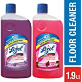 Lizol Disinfectant Floor Cleaner - 975 ml (Floral) with Lizol Disinfectant Floor Cleaner - 975 ml (Lavender)