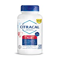 CITRACAL Maximum, Highly Soluble, Easily Digested, 630 mg Calcium Citrate with 1000 IU Vitamin D3, Bone Health Supplement for Adults, Caplets, 120 Count (53505)