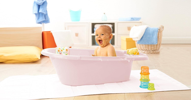 Rotho Babydesign Badewanne 0-12 Monate Cool Blue Mit Ablaufst/öpsel Blau 20020 0287 Bella Bambina