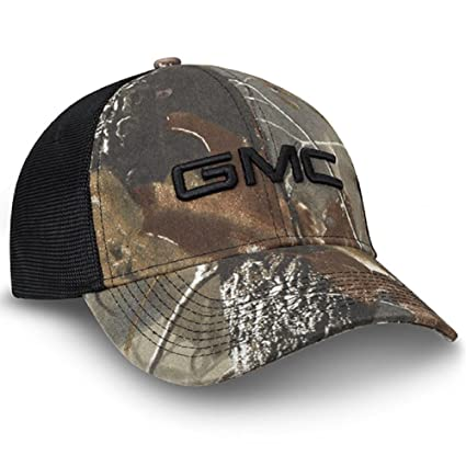 88729faea1913 Amazon.com  GMC Realtree Hardwoods Camo Black Mesh Hat  Automotive