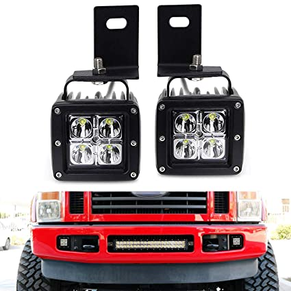 ijdmtoy led pod light fog lamp kit for 2008-10 ford f250 f350 f450,