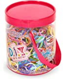Expressions D.I.Y. 1200 Rainbow Color Latex-free Rubber Band Bracelet Refill Loom Pack