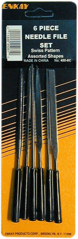 Carded 6-Piece Enkay 450-6C  Needle File Set