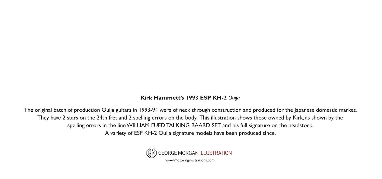 DL size Kirk Hammett/'s ESP KH-2 Ouija Guitar Greeting Card