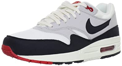competitive price 837e8 6c3ac Nike Mens Air Max 1 OG Sail Dark Obsidian-Grey Suede Running, Cross