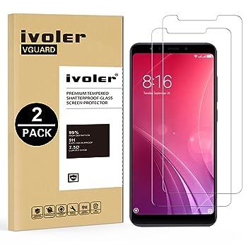 iVoler [2 Unidades] Protector de Pantalla para Xiaomi Redmi 5 Plus, Cristal Vidrio Templado Premium: Amazon.es: Electrónica