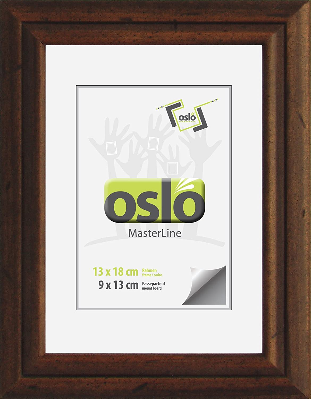 Amazon.de: OSLO MasterLine Bilderrahmen 13x18 braun Holzrahmen ...