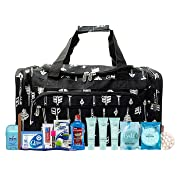 Maternity Hospital Labor Duffle Bag For Birth, Pre-packed Toiletry Bag - Arrow Black White