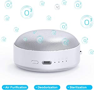 XTAR AF1 Mini Ozone Generator Portable Ozone Machine Portable Air Purifier Deodorization Sterilizer Air Cleaner for Odor Elimination, Shoe Cabinet, Refrigerator, Pet, Car, Bag, USB Type C Rechargeable
