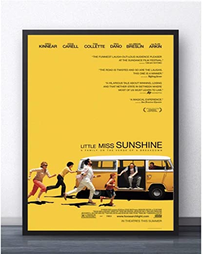 Little Miss Sunshine Movie Painting Poster Prints Canvas Wall Picture for Home Room Decor -60x80cm No Frame