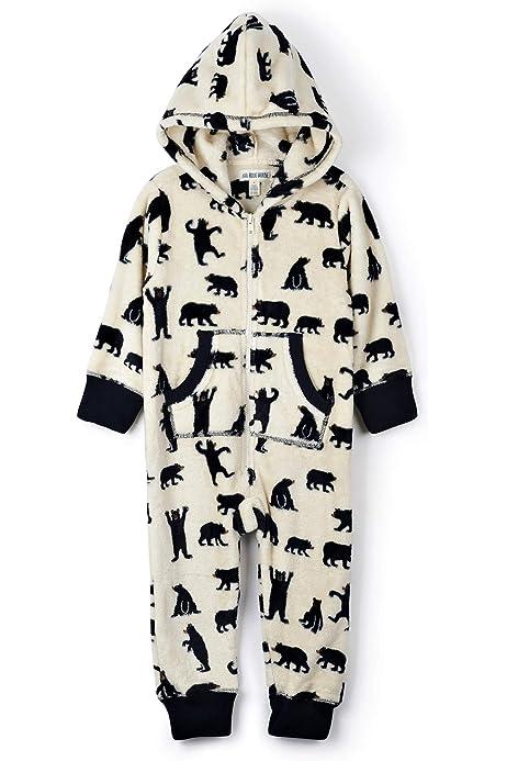 Hatley Damen Bear Family Fuzzy Fleece Hooded Jumpsuits Pyjama Set
