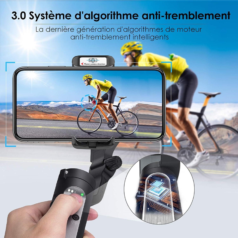 Gimbal Smartphone - Stabilisateur Smartphone Pliable à 3 Axes