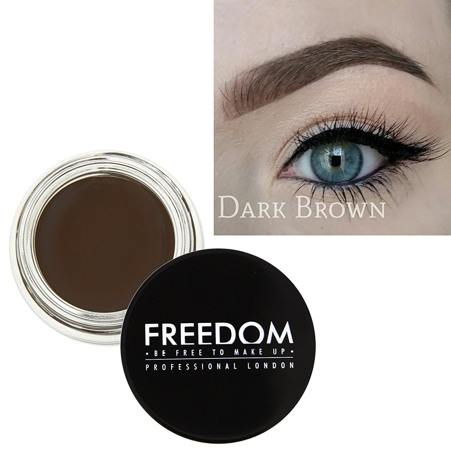 Freedom Makeup Eyebrow Definition Brow Pomade Dark Brown Freedom Makeup London