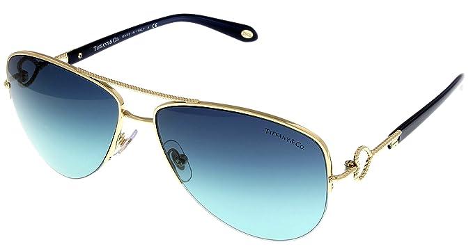 1d13a07b5f Amazon.com  Tiffany   Co Sunglasses Women Gold Aviator TF3046 60949S ...