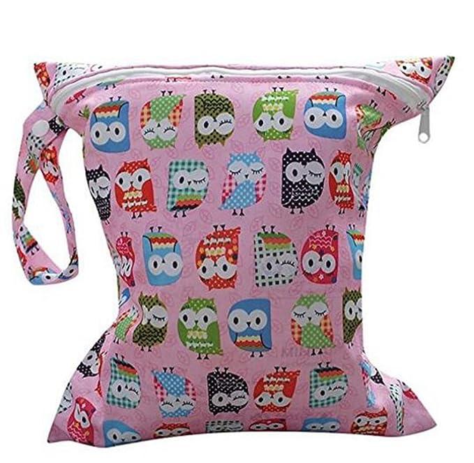 Beauty DIY Mart Bolsa de Pañales Animados Reutilizable de Bebes, Lomire Útil Bolsa de Mamá Seca Impermeable Lavable Mojado Paño Pañales de 28 x 30 CM, ...