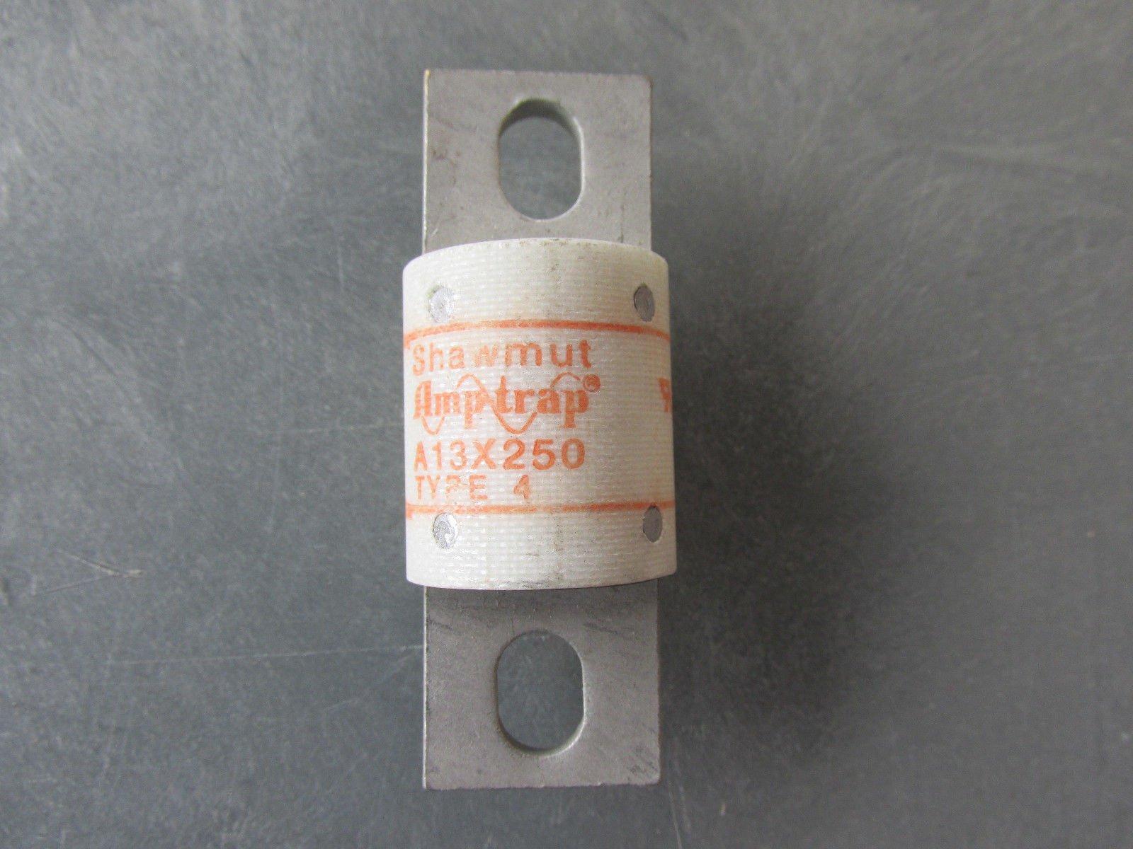 A13X250-4 SHAWMUT GOULD FERRAZ 130V 250 AMP TYPE 4, FUSE A13X250 250A MERSEN