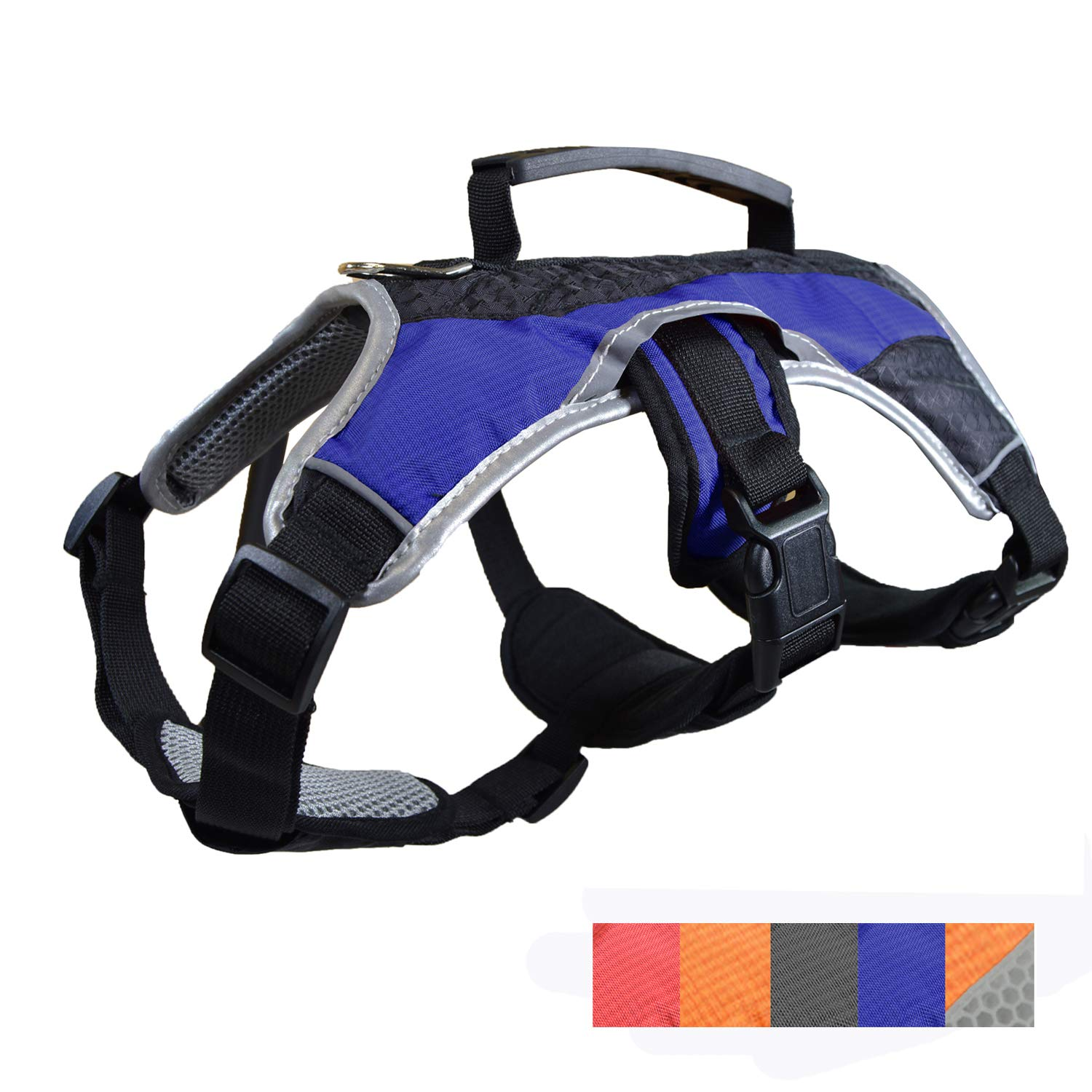Dog Walking Lifting Carry Harness, Support Mesh Padded Vest, Accessory, Collar, Lightweight, No More Pulling, Tugging or Choking, for Puppies, Small Dogs (Blue, Large), by Downtown Pet Supply