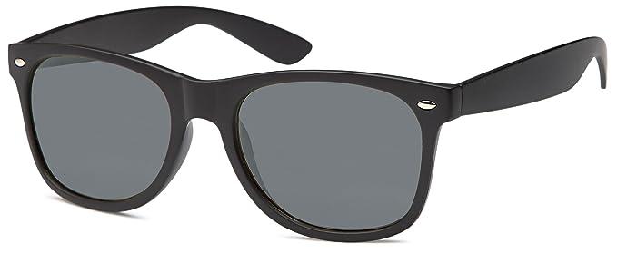 polarisierte Wayfarer Sonnenbrille mit verspiegelten Gläsern und Hardcase (schwarz) ke1Iz4g5