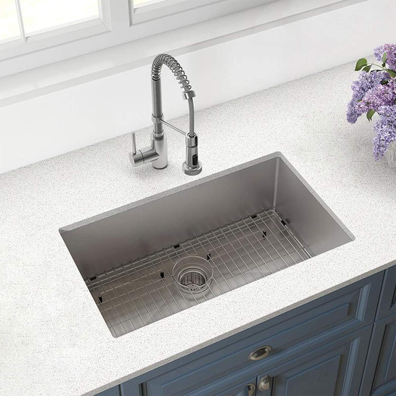 32 Inch – Stainless Steel – Kitchen Sink – Undermount – 10 Inch Deep