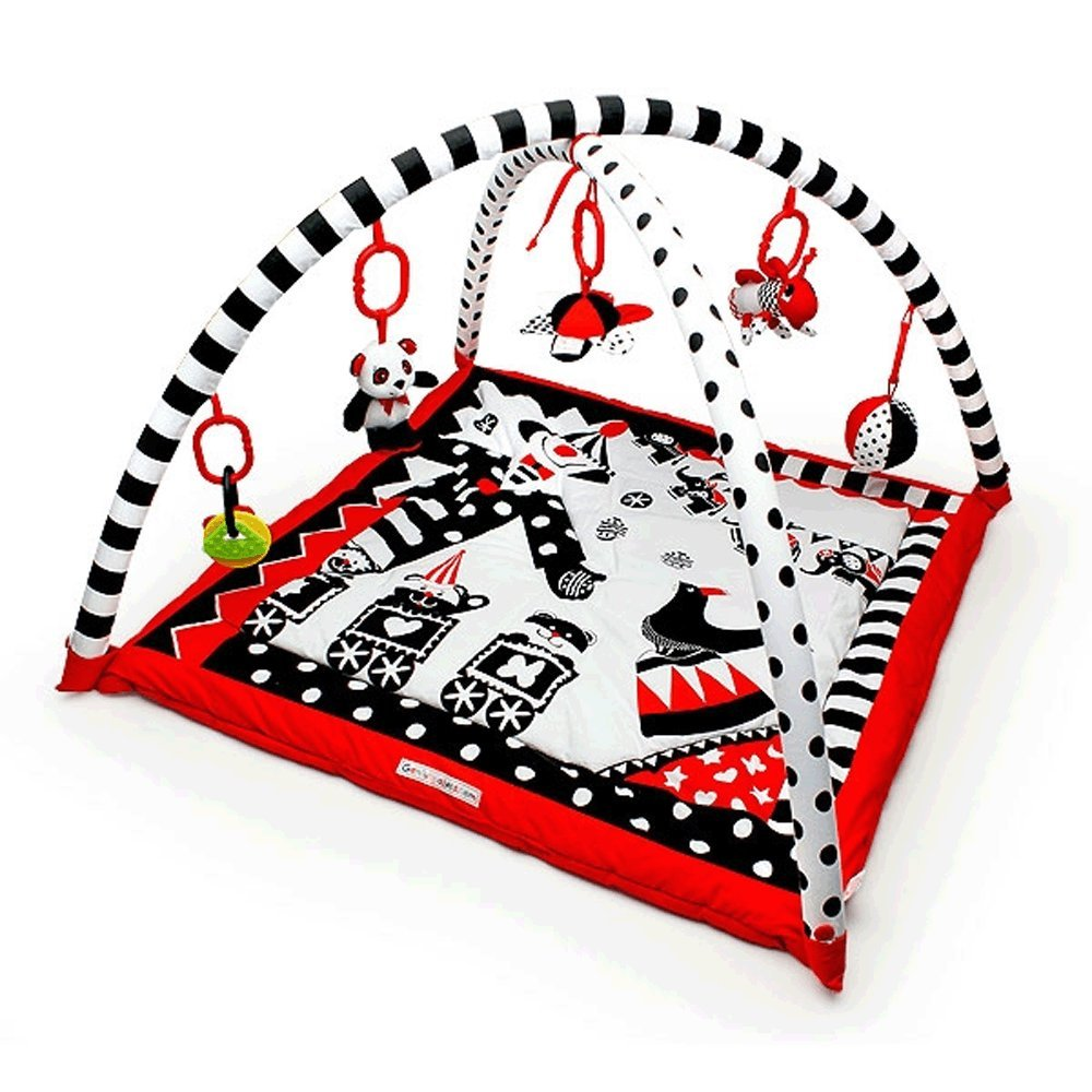 Black, White & Red Activity 3D Playmat & Gym Genius Baby Toys GB-21