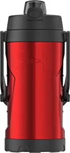 Under Armour MVP 2 Liter Stainless Steel Water Bottle, Matte Red