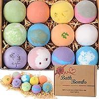 12 natuurlijke badbommen 2.8 oz, natuurlijke etherische olie handgemaakte aroma-bubbelbad koolzuurhoudende spa voor…